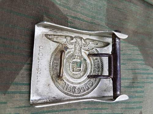 Nickel SS buckle for review.
