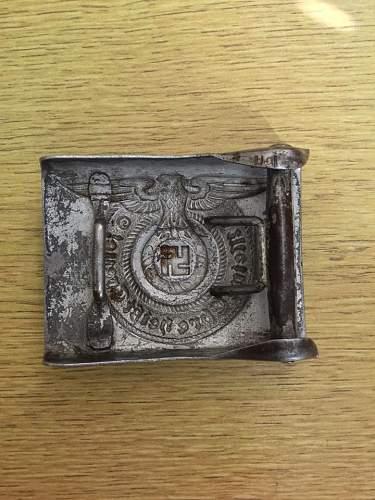 SS Late War Overhoff & Cie steel belt buckle , Original?.