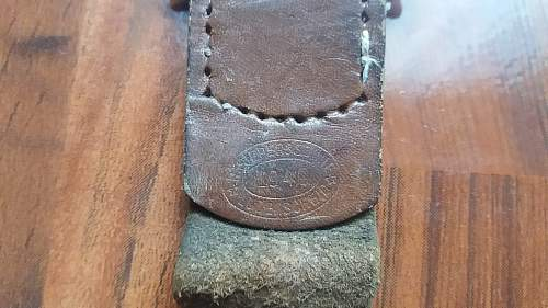 SS Police officer buckle