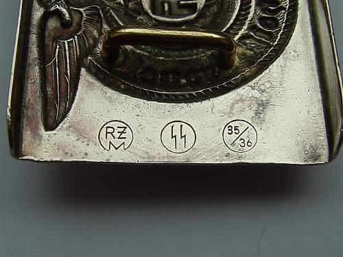 SS RZM 35/36 buckle
