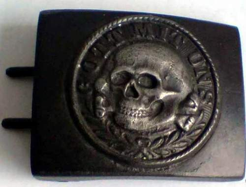 SS buckle with Totenkopf