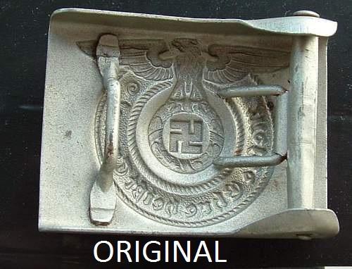 SS EM late war Overhoff Original v Fake