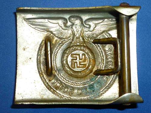 early unmarked SS-Buckle