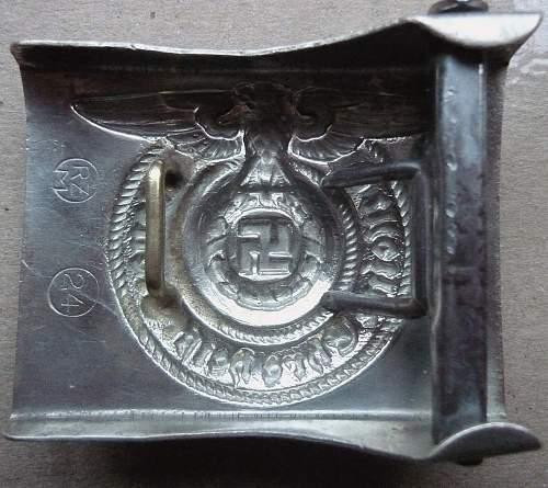 Unseen markings on SS buckles