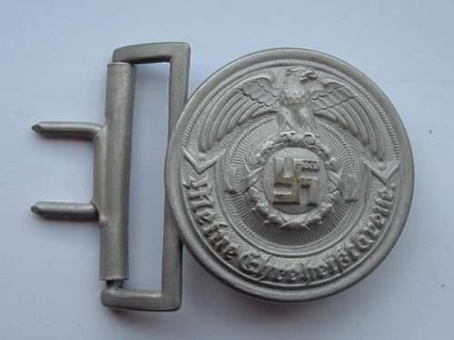 Fake SS Officer's Aluminum buckle