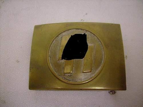 WW II Danish Wiking SS belt buckle & SS buckle are original?