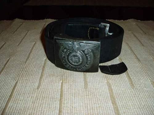 SS belt buckle and belt
