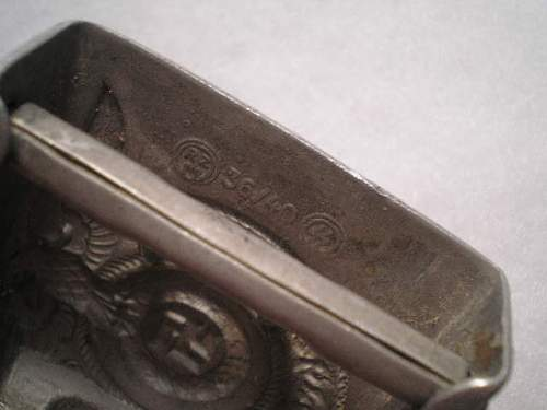 KOPPELSCHLOSS DER WAFFEN-SS  Hersteller RZM 36/40 SS are original?