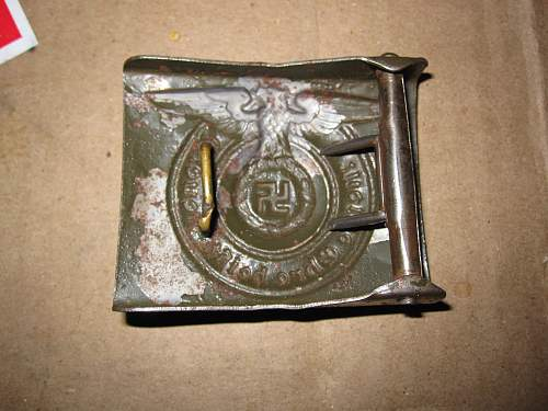 SS Buckle Unmarked. Real or Fake?