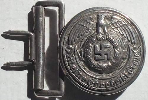 SS Officer belt buckles...