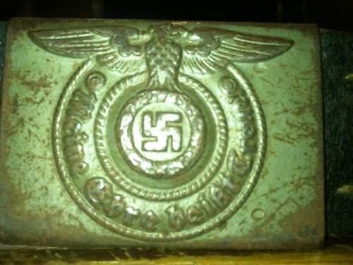SS enlisted mans steel buckle and belt