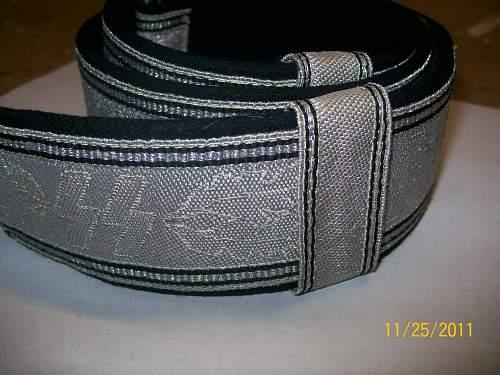 SS Officers brocade belt...fake or original??