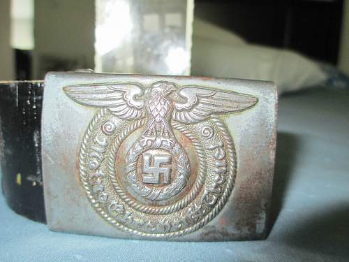SS Belt and Buckle with photo of SS Mann