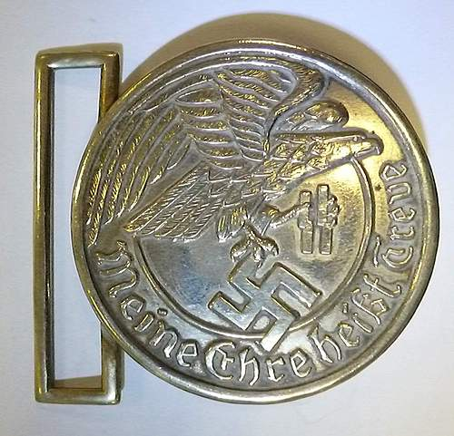 Fantasy SS officers belt buckle