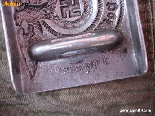 822/38 RS&S belt buckle genuine?