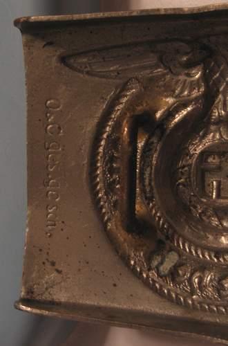 SS Buckle from auction - O & C Gesch Gesch (Overhoff) marked