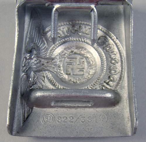 SS belt buckle 822/38
