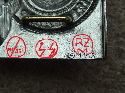 Other Markings on SS Buckles