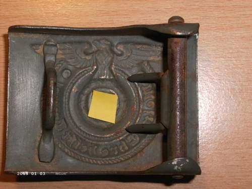 SS Belt Buckle Afrikakorps genuine?