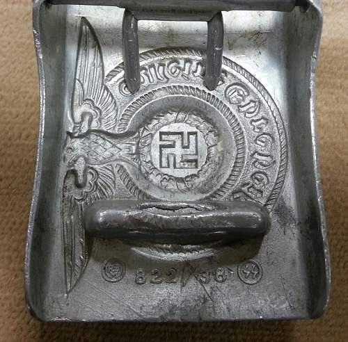 aluminum SS  buckle..... have bad feeling..