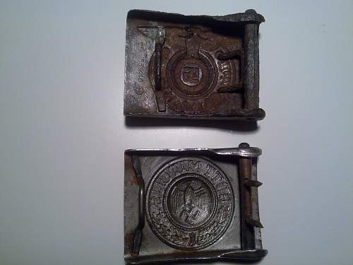 Two buckles from my younger years SS/Heer
