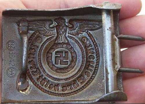 Ss buckle -  fake, right?