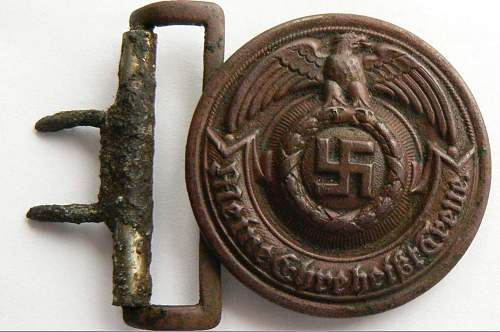 SS Officers buckle RZM 24