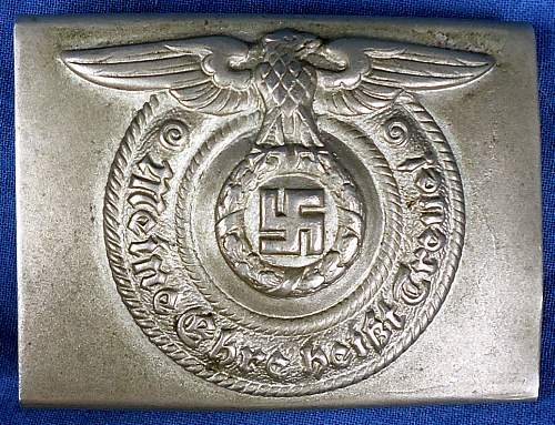 SS enlisted man's early nickel Buckle