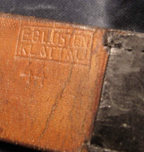 OLC Gez.Gesch marked Belt Buckle officer-need help