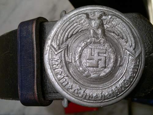 OLC Gez.Gesch marked Belt Buckle officer-need help