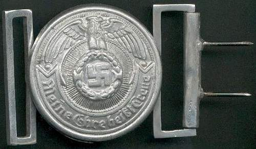 SS trench art buckles?
