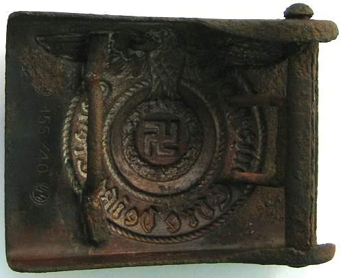 SS belt buckle for evaluation