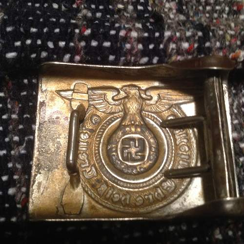 Unmarked SS Buckle