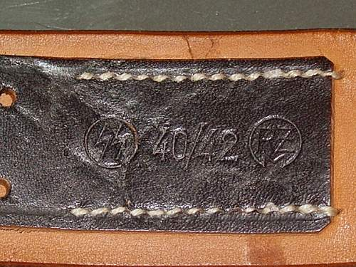 SS leather markings ( belt & cross straps D rings Brocades etc)
