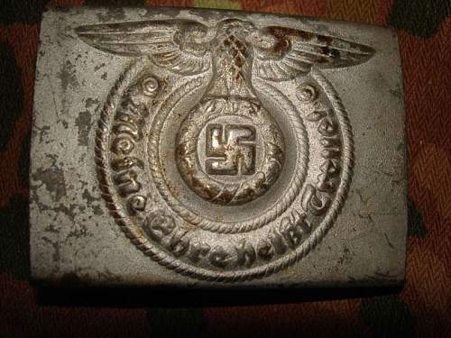 SS buckle attic find