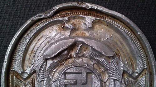 Two SS ground dug buckles
