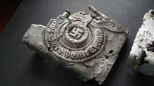 Two SS ground dug buckles 155/39 and 155/40