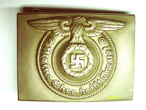 SS buckle made by Martin Winter