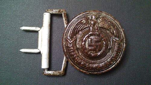 SS officer ground dug buckle 36/43 in good condition