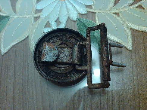 Two SS officer ground dug buckles