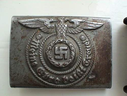 De-nazified SS Buckle...yes/no
