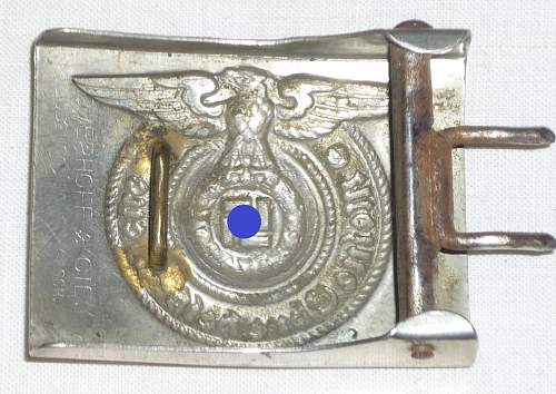 SS Overhoff belt  buckle genuine?