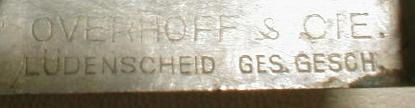 SS Overhoff belt  buckle genuine?