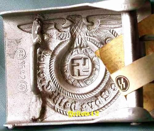 SS Belt Buckle Overhoff - Original/Fake?