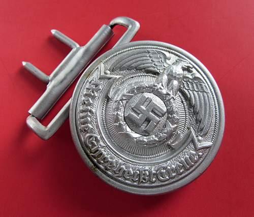 aluminum Overhoff produced SS Officer's belt buckle