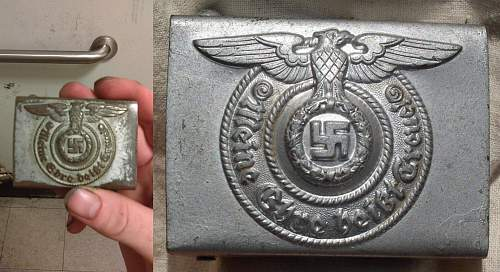 Please help - i was offered this belt buckle and hat pin - authentic?