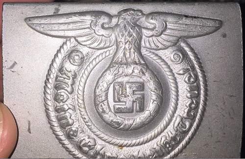 German SS  Belt Buckle fake or real.