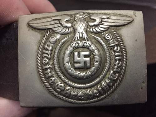 Early Nickel SS buckle and belt