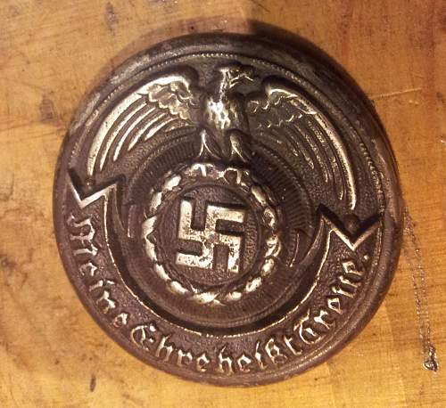 SS officer buckle