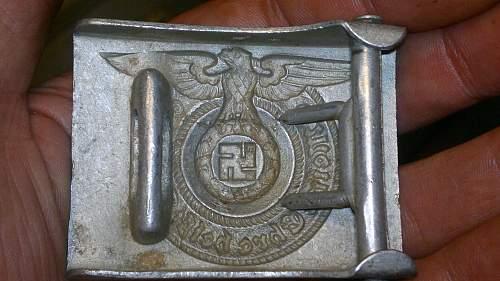 SS enlisted belt buckle and belt.